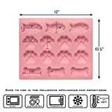 Food Grade Silicone Dog Bone Paw and Fish Mold Baking Sheets for Cookies, Brownies, Candles and Treats