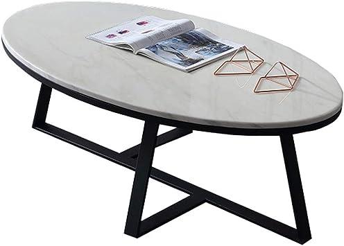 Amazon Com Dxjni Marble Coffee Table Oval Balcony Small Side