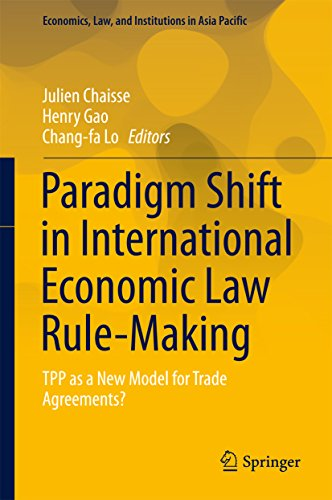 Paradigm Shift in International Economic Law Rule-Making: TPP as a New Model for Trade Agreements? (Economics, Law, and Institutions in Asia - Agreement Wholesale