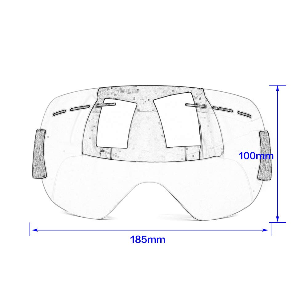 Yellow FATExpress Ski Goggles Winter Snow Sports Snowboard Goggles with Anti-fog UV Protection For Men Women Youth Skiing Skating Mask Eyewear Glasses