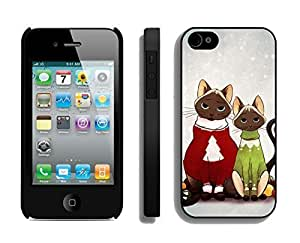 iphone covers 2014 Newest Lovely Red And Green Decorated Christmas Cats Black pc hard Case For iPhone 6 plus,Apple Iphone 6 plus