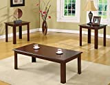 Clover & Moss OT9004 Copeland Coffee Table Set Not Applicable, Espresso Wood