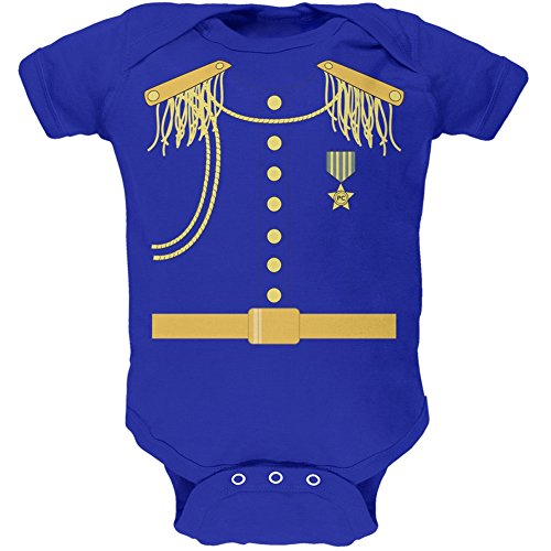 Halloween Prince Charming Costume Royal Soft Baby One Piece - 9-12 Months Blue ()
