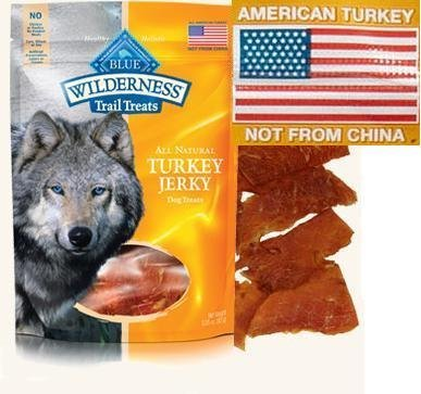 3 Bags – Blue Buffalo Wilderness Turkey Grain Free Dog Jerky Treats – Made in USA For Sale