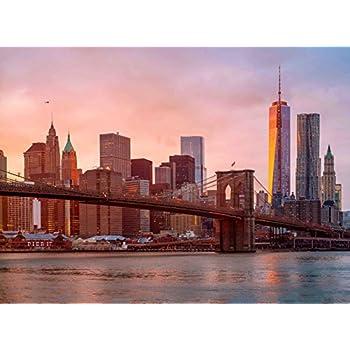 Amazon Com Adult Jigsaw Puzzle Brooklyn Bridge Skyline