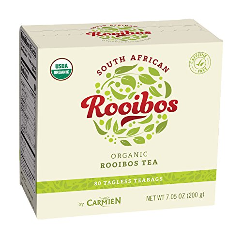 80 Organic Rooibos Tea bags, South African Red Tea Herbal Beverage, Relaxing and Soothing All Natural Drink without Caffeine, Rich in Antioxidants