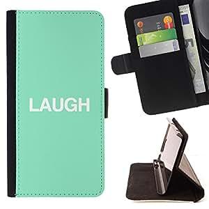 - Queen Pattern FOR Samsung Galaxy S4 IV I9500 /La identificaci????n del cr????dito ranuras para tarjetas tir????n de la caja Cartera de cuero cubie - laugh mint text minimalist i