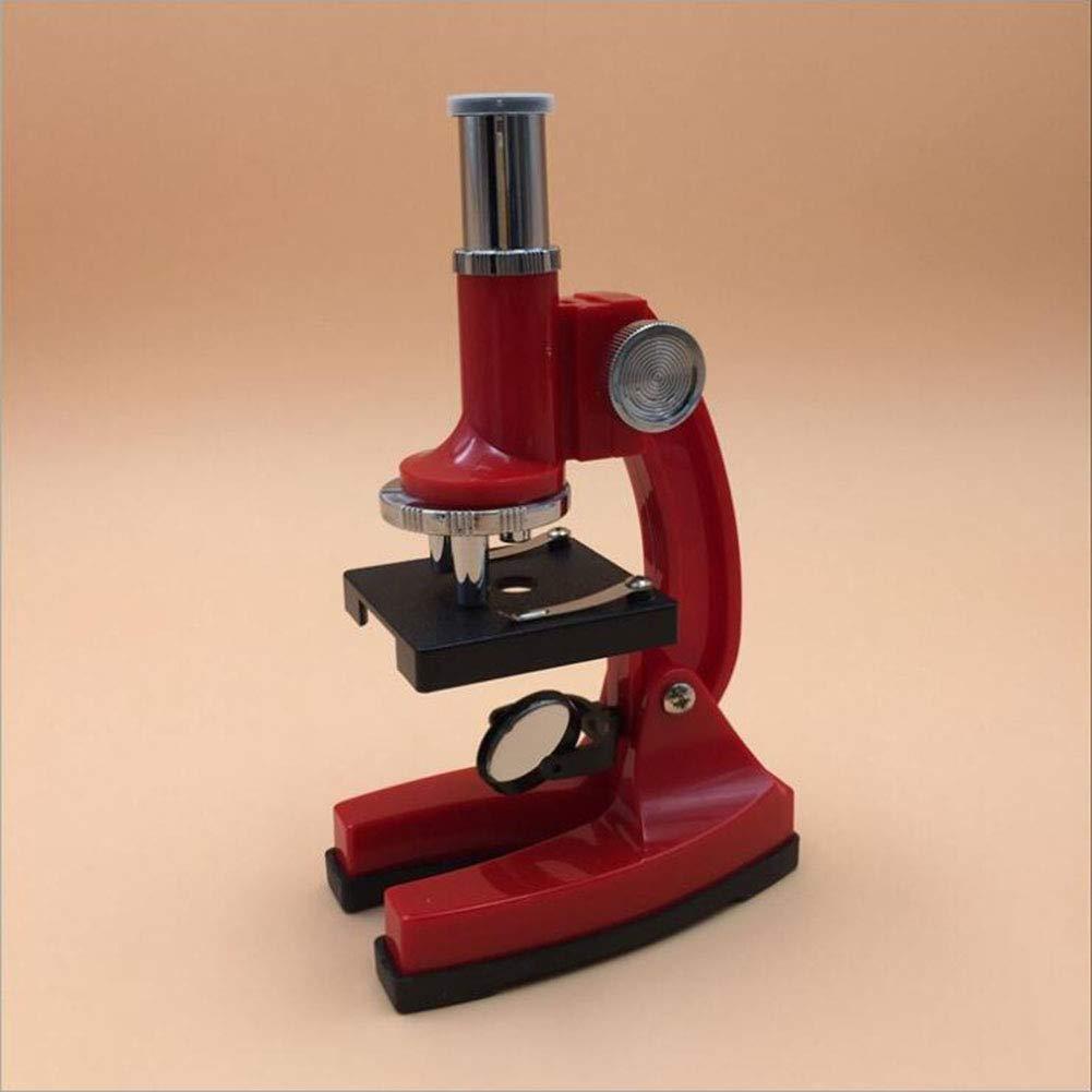 Tckoudai New Children's Microscope, Simple Student Microscope Teaching Microscope 450 Times Magnification,Red by Tckoudai