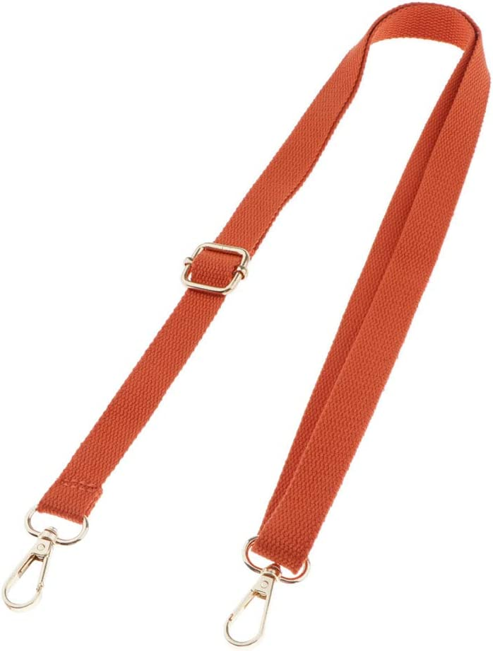 Elegante Taschengurt Schultergurt Verstellbar Schulterriemen 140cm Orange dailymall Leinwand Taschengriffe
