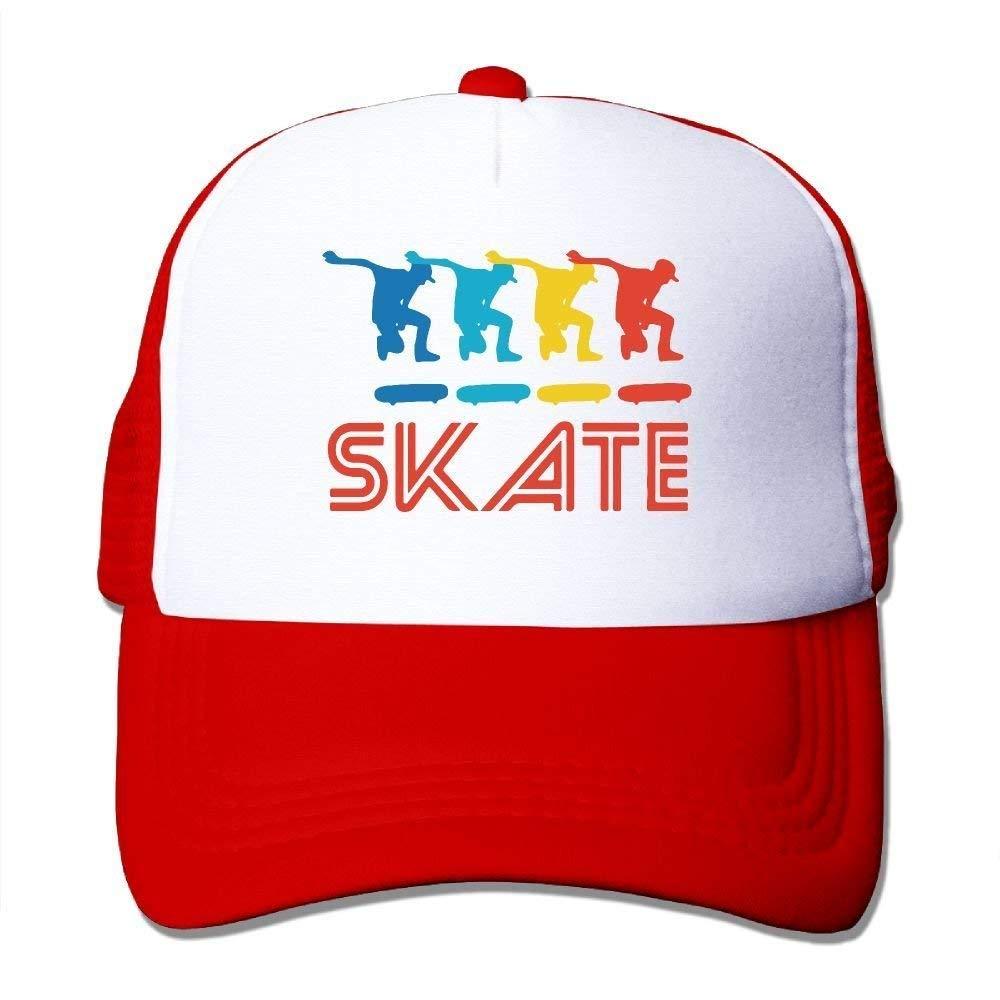 Skater Retro Pop Art Skateboarding Graphic Skate Mesh Trucker ...