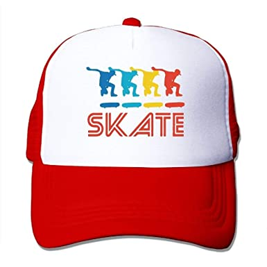 Skater Retro Pop Art Skateboarding Graphic Skate Mesh Trucker ...
