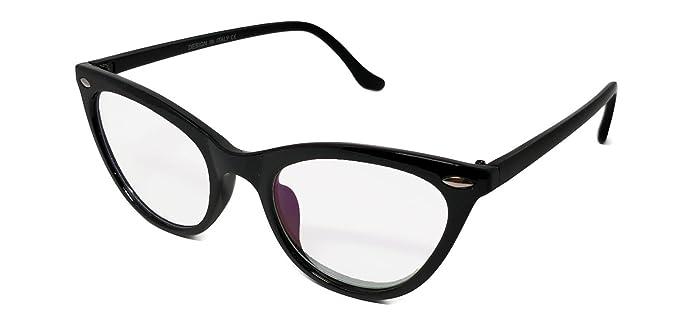 ef0f8a5e384 Stylish Black (with girlish Black Shade) Cat Eye Women Spectacle Frame with  Dummy Glasses