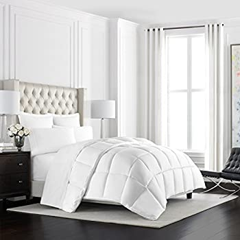 Beckham Hotel Collection Heavyweight Goose Down Alternative Comforter - Hotel Quality Luxury Hypoallergenic Duvet Insert - Warm Winter Comforter - Twin/Twin XL - White