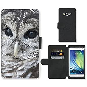 PU Cuir Flip Etui Portefeuille Coque Case Cover véritable Leather Housse Couvrir Couverture Fermeture Magnetique Silicone Support Carte Slots Protection Shell // V00000058 Búho // Samsung Galaxy A7 (not fit S7)