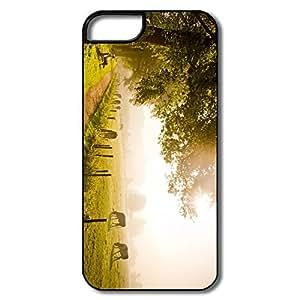 Custom Popular Protective Take Seat Enjoy Autumn IPhone 5/5s Case For Birthday Gift