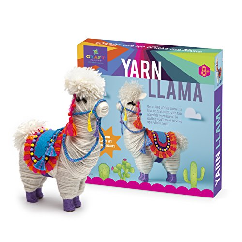 51M7laeSFJL - Craft-tastic – Yarn Llama Kit – Craft Kit Makes 1 Yarn-Wrapped Llama
