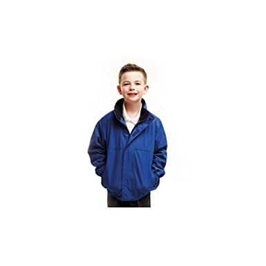 Regatta Kids Dover Fleece Lined Jacket Boys Girls Casual Schoolwear Rain Coat