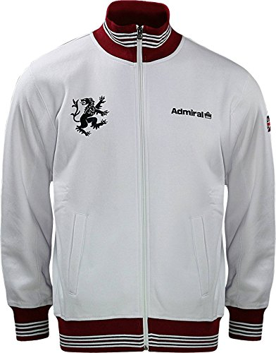Admiral 100's Collection Lions Full Zip Soccer Track Jacket, White, Adult XX-Large