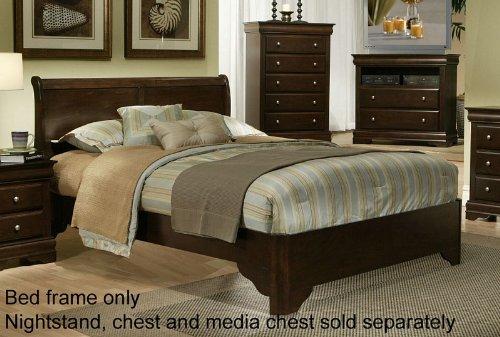 Alpine Furniture Chesapeake Sleigh Bed, Full (Headboard Sleigh Low Profile Bed)
