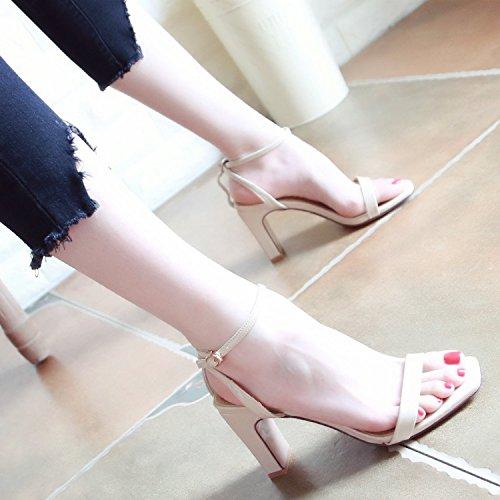 YMFIE alto pelle sandals vernice sexy tacco toed in c estate Signora pxqwr7B1p