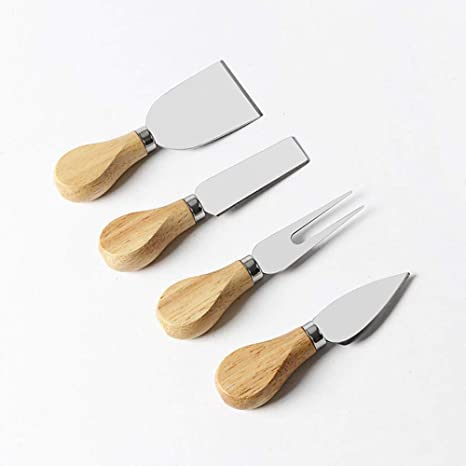 OLDK 4 unid. Cuchillos de Queso de Acero Inoxidable Set ...