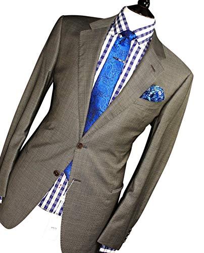 Armani. Collezioni. Italian Made Grey Birdseye Tailor-Made Suit 44R ()