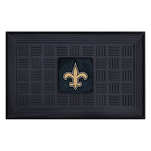 (FANMATS NFL New Orleans Saints Vinyl Door Mat)
