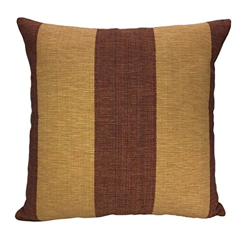 ArtiFab Cushion of Size 18X18 Inch, 100% Cotton, Wood Brown Stripe Decorative Pillow Cover, Design Throw Pillows for Sofa by ArtiFab