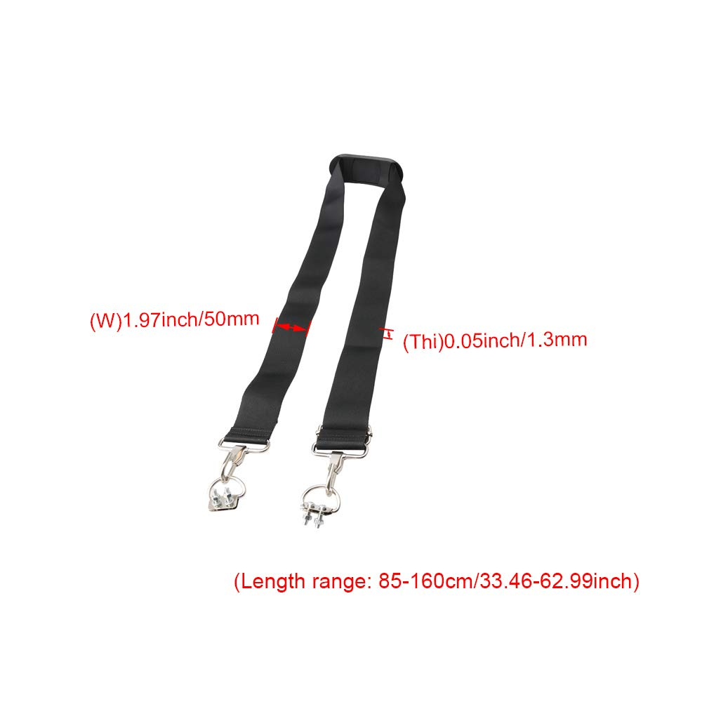 Mxfans 50MM Toolbox Luggage Strap Double Hole D-Type Buckle with Shoulder Pad