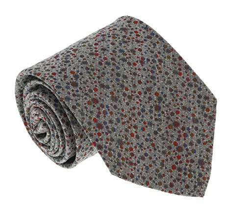 - Missoni U0901 Gray/Red Pin Dot 100% Silk Tie for mens