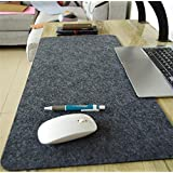 LLL-Large padded computer keyboard mat mouse pad simple game writing desks wristband , single deep grey