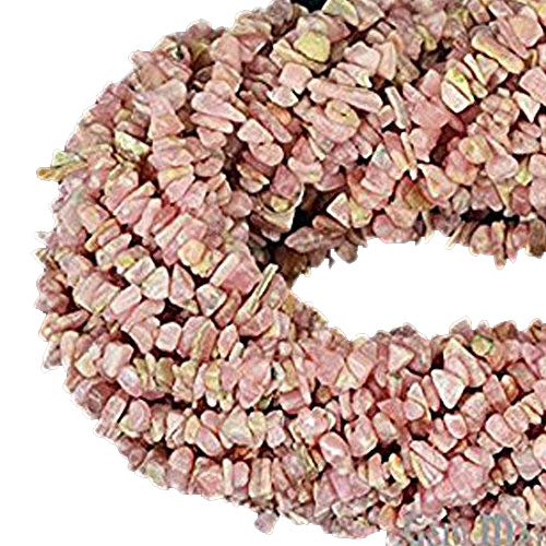 1 Strand (34inches) of Real Natural Rhodochrosite Gemstone Chips Beads. wholesale price. Prepared exclusively by GemMartUSA.