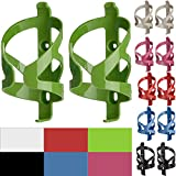 50 Strong Bike Water Bottle Holder 2 Pack – Made in USA – Easy to Install - Durable Bicycle Cage - Vivid Lime