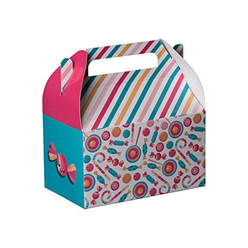 Hammont Paper Treat Boxes -Party Favors Treat Container Cookie Boxes Cute Designs Perfect for Parties and Celebrations 6.25