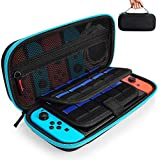 Hestia Goods Case for Nintendo Switch Hard Carry Case with 20 Game Cartridges - Protective Hard Shell Travel Carrying Case Pouch for Nintendo Switch Console & Accessories - Teal