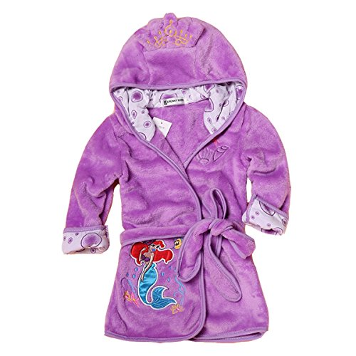 Boys Flannel Robe - Kids Cute Cartoon Bathrobe Flannel Hooded Pajama Sleepwear for Girls Boys