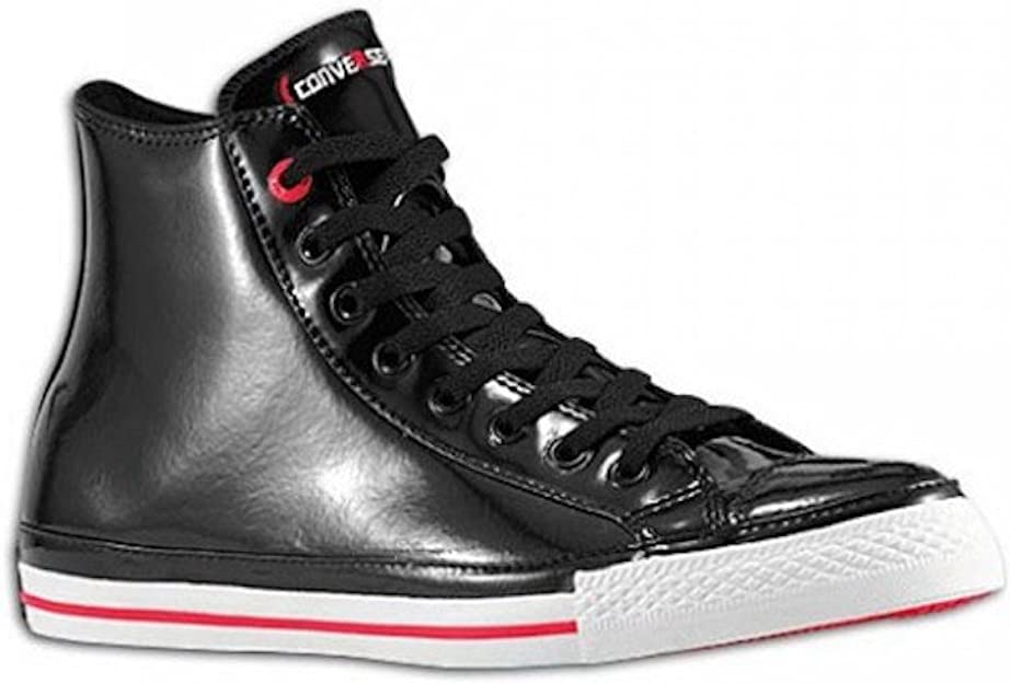 Converse Chuck Taylor All Star RED Black Patent Leather Red Stripe and Sole Hollywood Hi 103673
