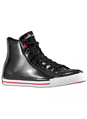 9b250b2d84c7 Converse Chuck Taylor All Star RED Black Patent Leather Red Stripe and Sole  Hollywood Hi 103673