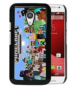 Popular Custom Designed Cover Case With Minecraft 5 Black For Motorola Moto G 2nd Generation Phone Case
