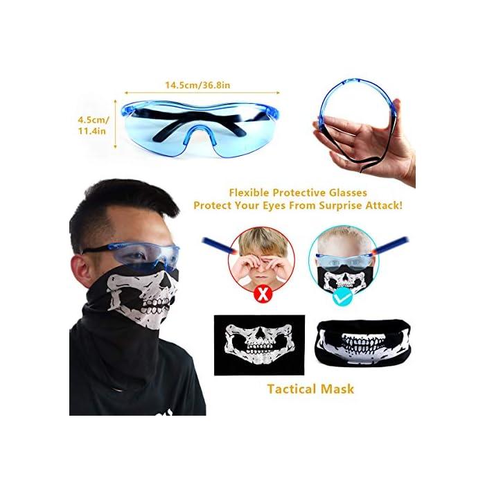 51M7pSs6o8L Gran regalo para sus hijos: el kit de chaleco táctico le permite a sus hijos llevar más potencia de fuego adicional que otros niños y al mismo tiempo proporciona una buena protección. El chaleco espesante duradero que también es transpirable. Kit rico: viene con 40 piezas de dardos de espuma en 4 colores + 1 pieza de gafas protectoras a prueba de viento gafas + 1 pieza de máscara de calavera sin costuras + 2 piezas de clip de recarga rápida de 12 dardos + 2 piezas de muñequera de 8 dardos + 1 pieza de bolsa de dardos (puede llevar de 20 a 30 dardos). A tus hijos les debe gustar este nuevo look en el juego de batalla. Fresco y seguro: gafas transparentes azules, suaves y flexibles. La máscara de calavera táctica fresca, hecha de tela transpirable no tóxica, hace que su aspecto general sea más fresco, también lo protege de ataques sorpresa. Dardos de espuma hechos de materiales plásticos de esponja suave y cabeza redonda suave para ayudar a amortiguar la fuerza de impacto, ideal para protegerlo de ataques sorpresa.