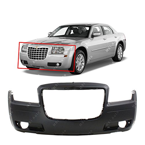 MBI AUTO - Primered, Front Bumper Cover Fascia for 2005-2010 Chrysler 300 2.7L Engine w/Fog 05-10, CH1000439