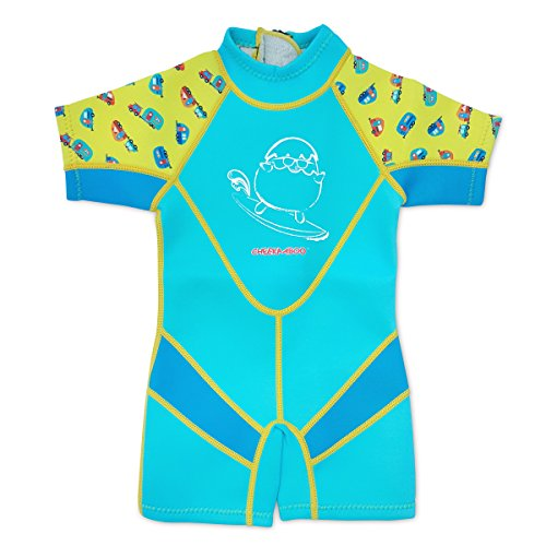 Kiddies Kids & Toddler One Piece Thermal Neoprene Swimsuit, Age 3-4, Blue