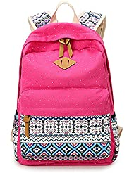 Fashion Dot Casual Canvas Cute Lightweight Backpacks for Teen Girls