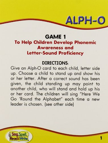 SING, SPELL, READ AND WRITE PRE-KINDERGARTEN ALPHO GAME '04C