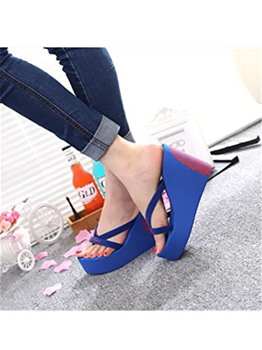 Ladies Heel Woman Women Super Platform Flops High Shoes 4 Slippers 40 Wedges Jwhui Flops Flip Flip Summer Designer 47qS5wB