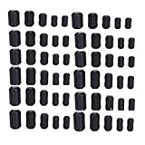 QPOWER 60 Pack Clip-on Ferrite Ring Core RFI EMI Noise Suppressor Cable Clip for 60 Pcs in 5 Size(3.5mm/ 5mm/ 7mm/ 9mm/ 13mm) Diameter Cable-Black