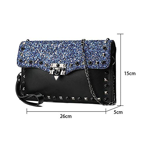 Soirée couleur Perlé Fête Wristlet À Épaule Rose Femmes Body Embrayage De Élégant Rose Glitter Sac Mariage Cross Parti Embrayages Bag Cocktail Main z8wHqF5