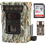 Browning BTC9D Defender 850 Wifi/Bluetooth Trail Game Camera (20MP, Camo) & 32Gb Card with Focus Reader