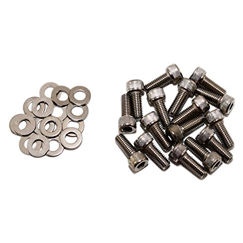Assault Racing Products A8494 Chevy GM 700r4 4L60E Zinc Plated Transmission Pan Allen Head Bolt Kit w Washers