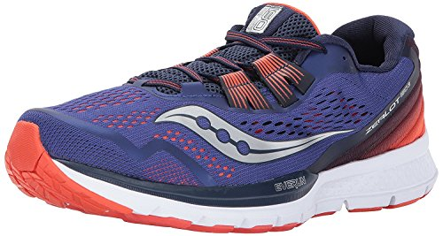 Saucony Men's Zealot ISO 3 Running Shoe, Blue/Orange, 43 D(M) EU/8.5 D(M) UK